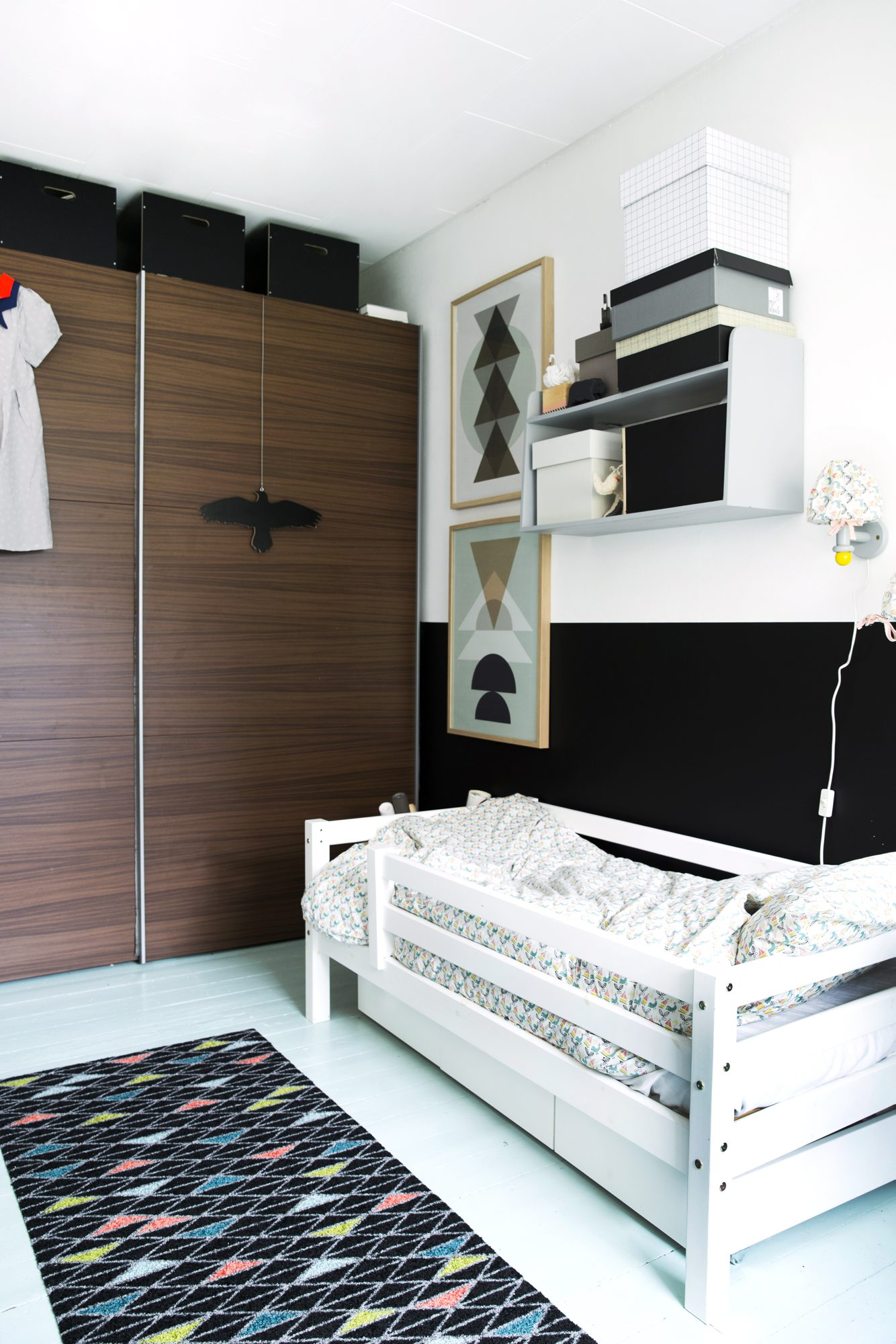 oppussing barnerom plass nedfellbar seng