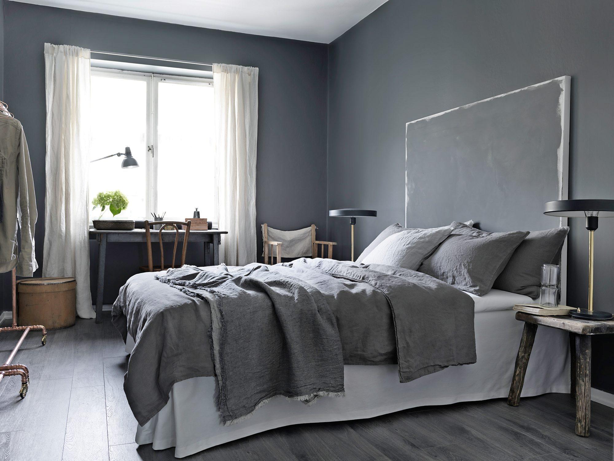 Varmgrå soverom