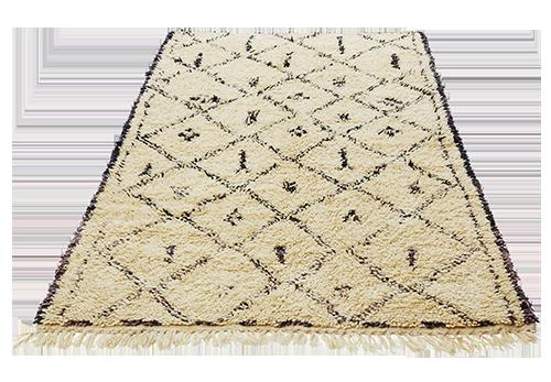 Marrakesh Berber-teppet kommer fra Atlasfjellene og er vevet av lokale ...