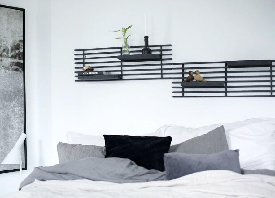 DIY designlykke soverom stil sengegavl skohylle prosjekt interiøblogger Henriette Amlie