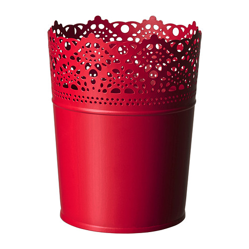 rød blomsterpotte fra ikea