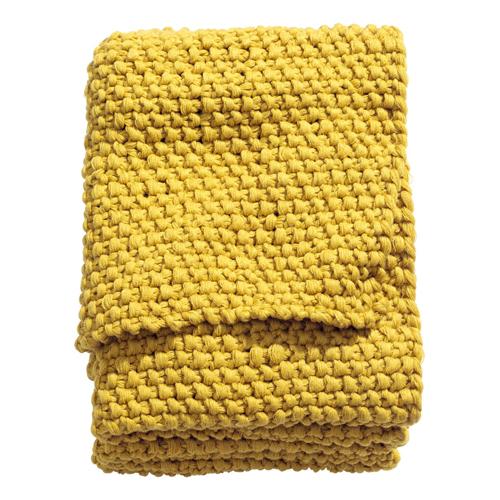 gult pledd fra H&M Home