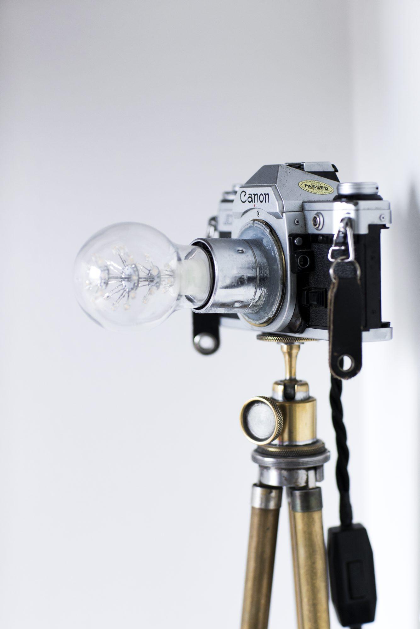 diy lampe av fotokamera