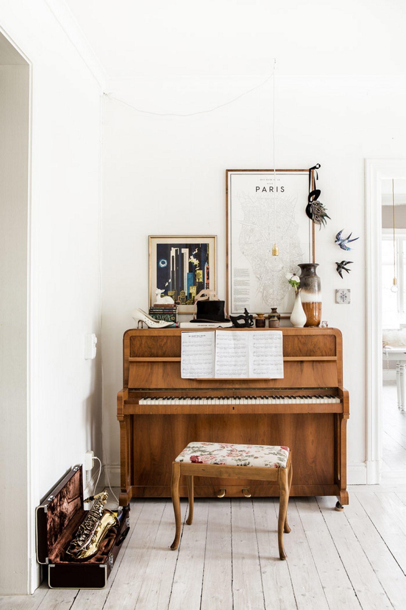 Dekorer rundt piano