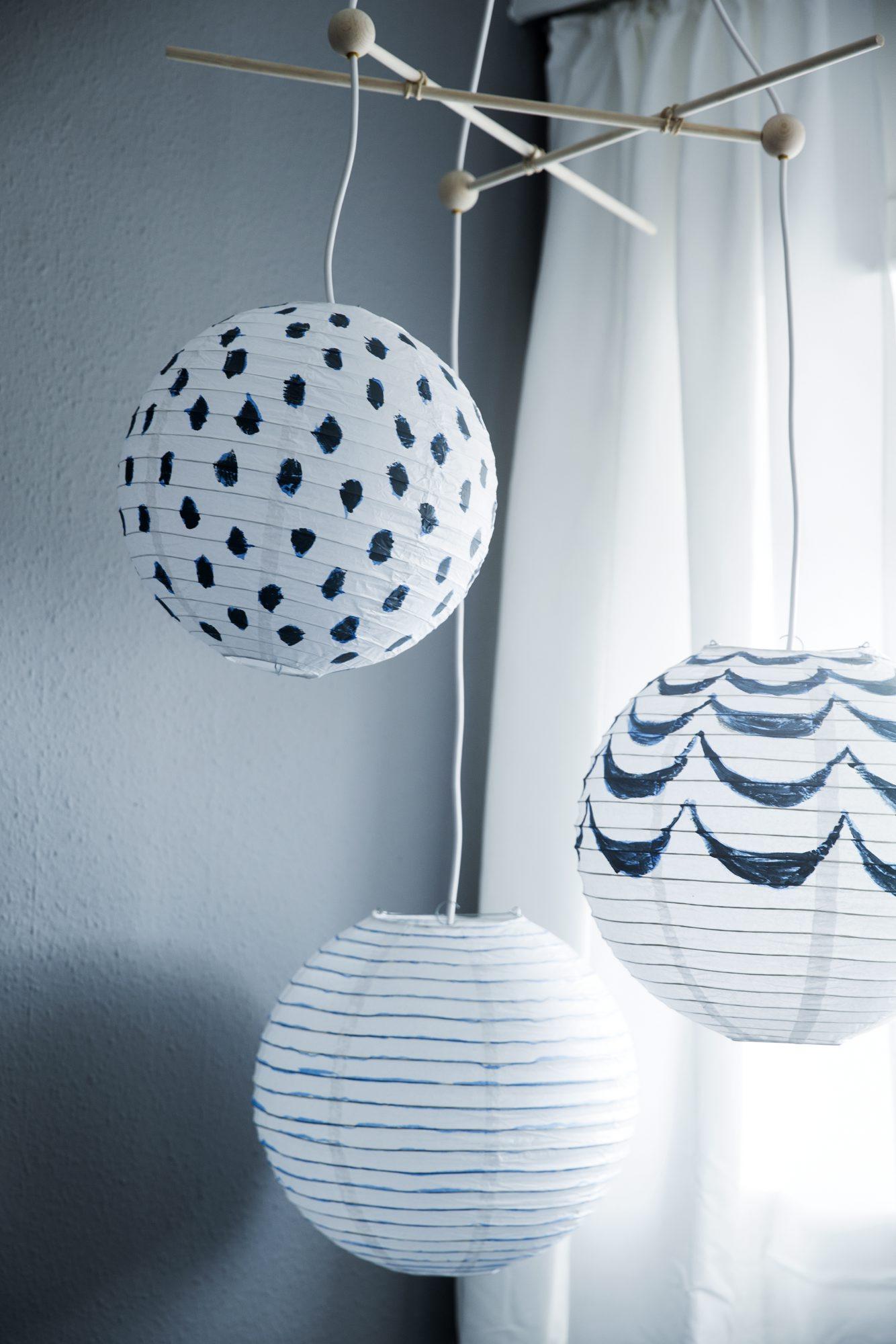 Nærbilde av lampe-uro