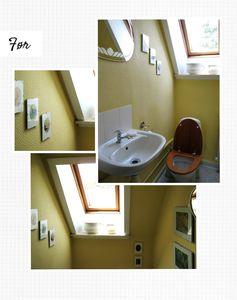 FØR: De gule veggene og treverket på toalettet skrek om en oppussing - det ble det også.