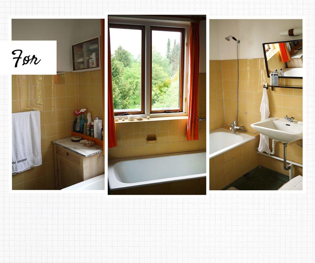 FØR: Det kjedelige og gamle badet ble noe helt annet etter oppussingen.. FOTO: Tia Borgsmidt