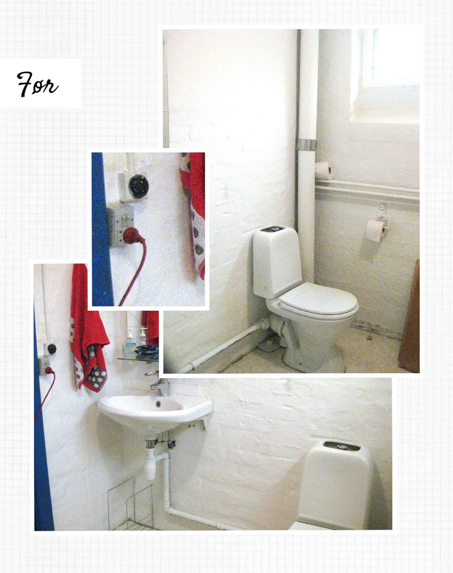 FØR: Det mørke og nedslitte badet trengte sårt en forvandling. FOTO: Tia Borgsmidt