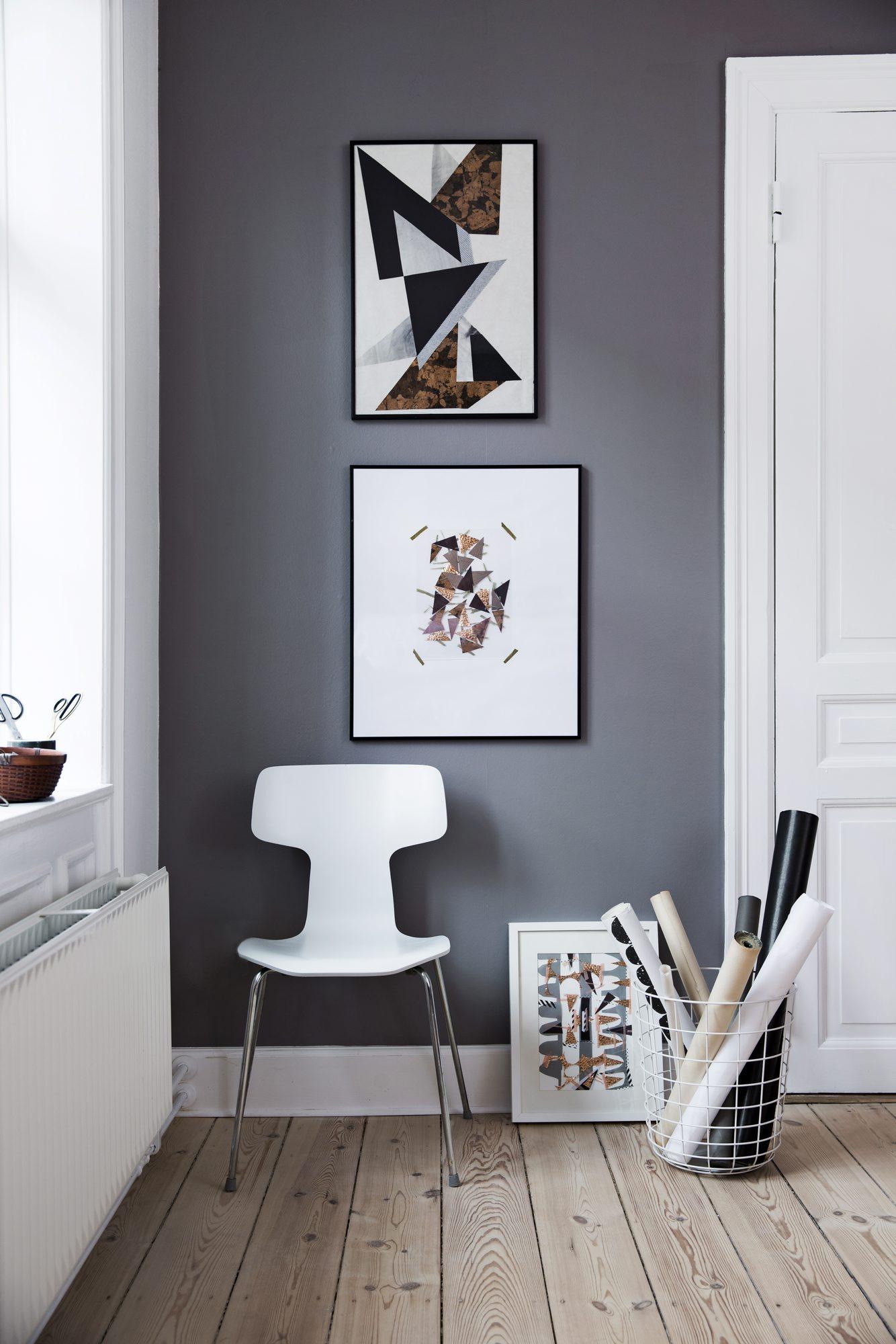 Klipp og lim dine egne kunstverk til veggen