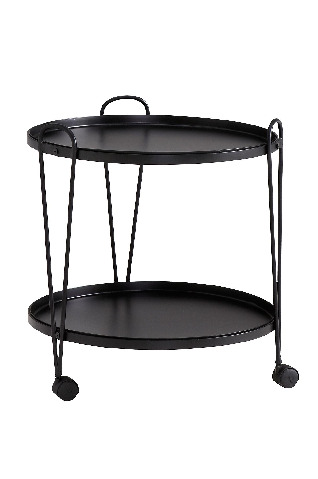 Dette er et bord med hjul, men det kan også gjøres om til en bartralle med riktig ingredienser på toppen. Kr 1099, Ellos.no.