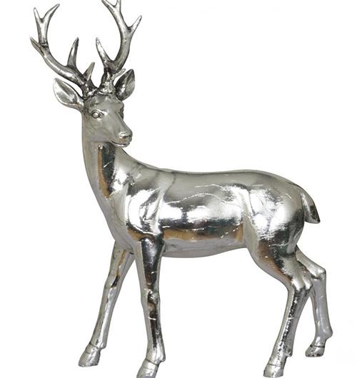 Sølvfarget hjort fra Lampehuset.no, kr 90. FOTO: Produsenten