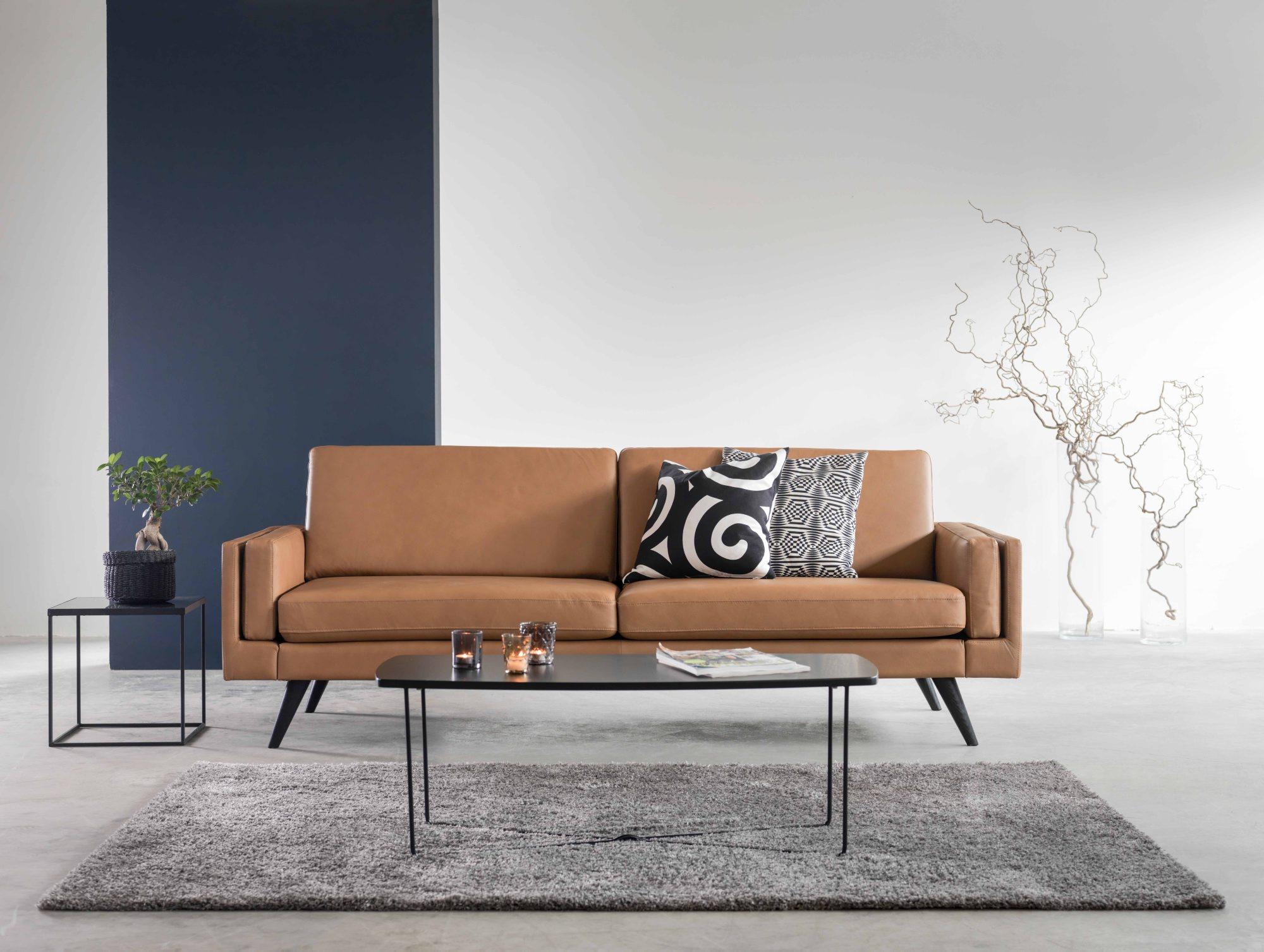 Sofa i lær, Nordiclines, fra Hjellegjerde, kr 23 465, Møbelringen.