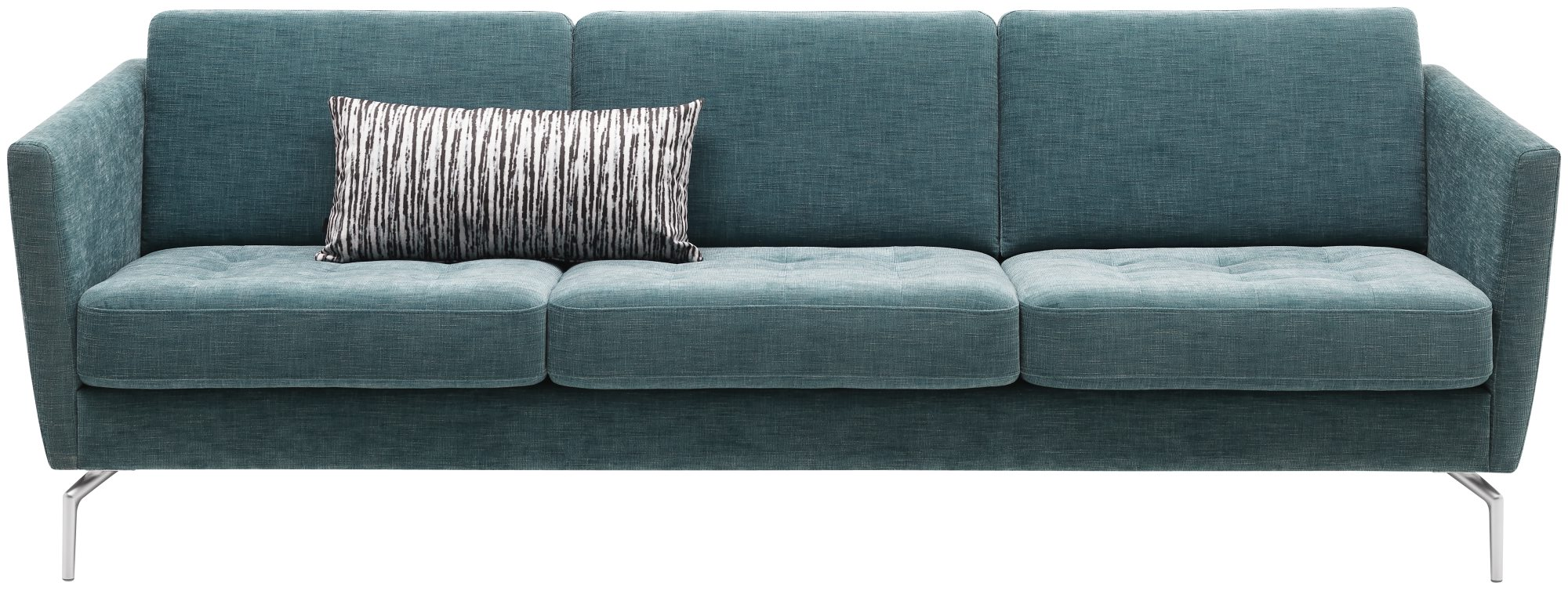 Tre-seter sofa, Osaka, i turkis tekstil Napoli, kr 17 604, Bo Concept.
