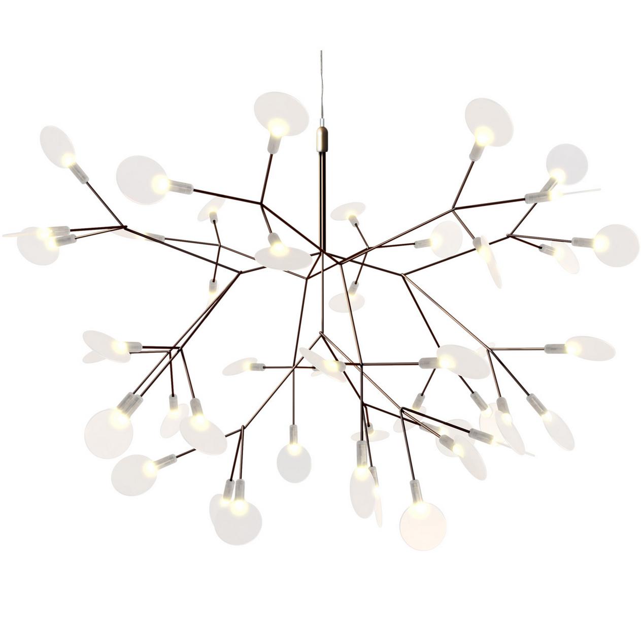 Heracleum taklampe i kobber, liten, kr 16909, room21.no.