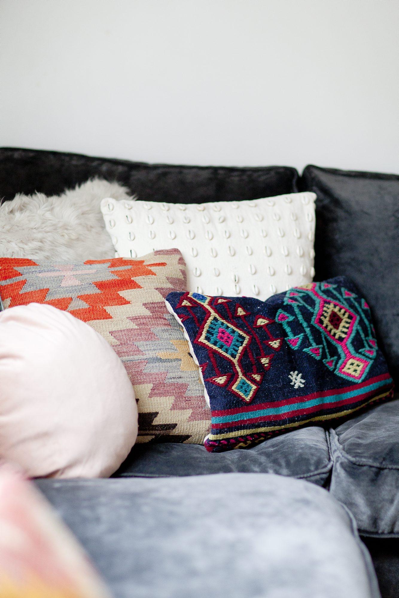 Hjemme hos Lise Kristensen sofaputer
