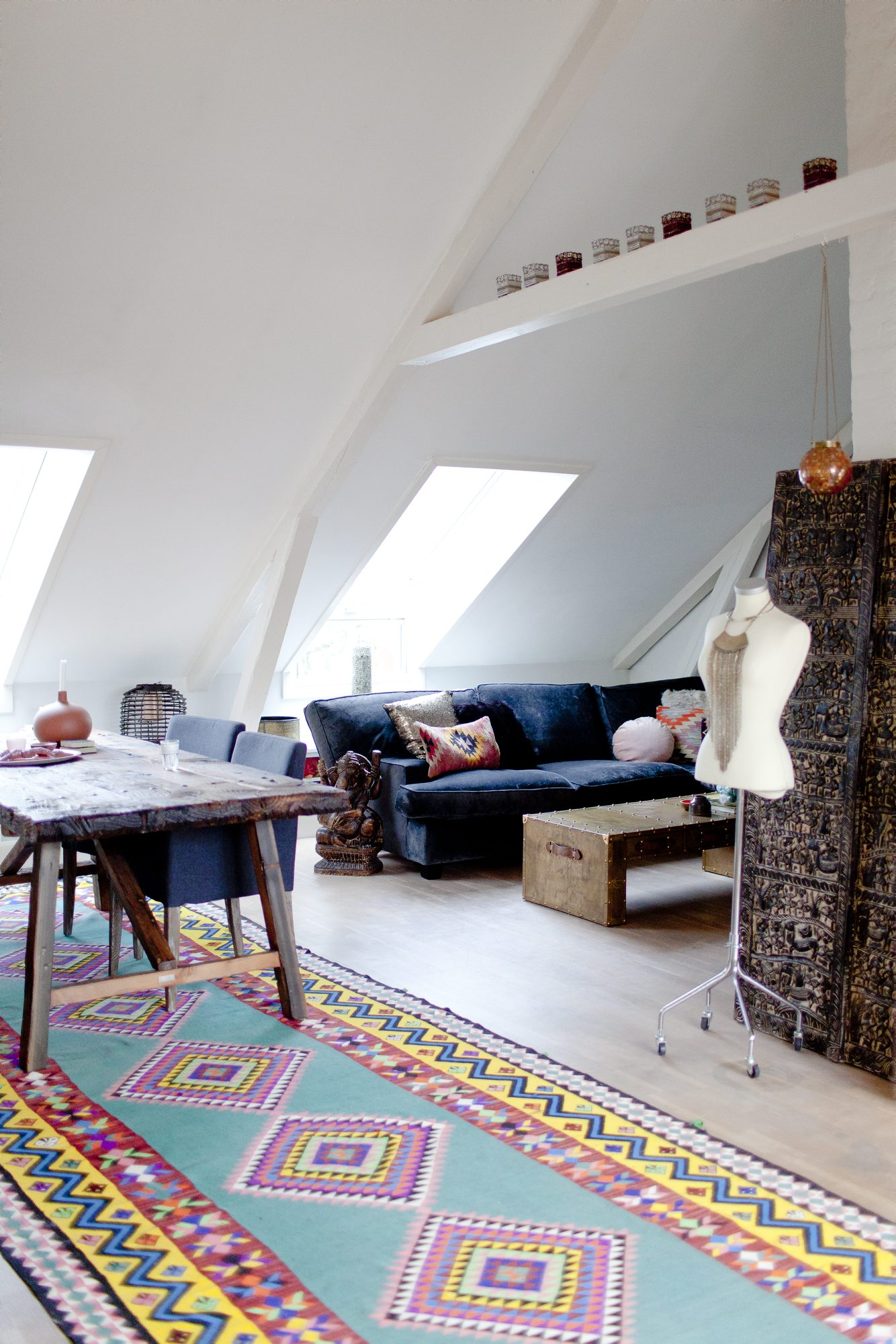 Hjemme hos Lise Kristensen stuen