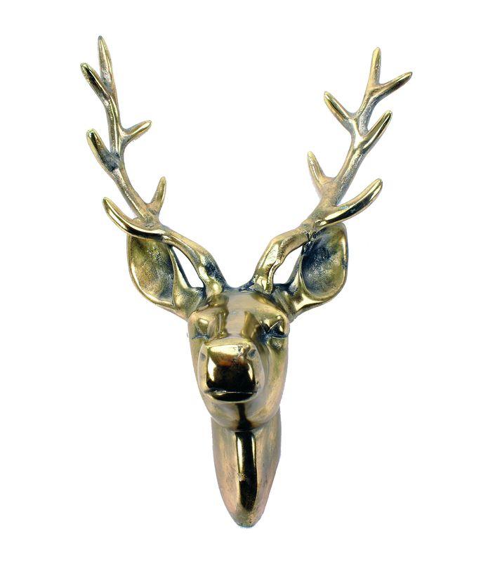 Bohus kr249 20x30cm Hjortehode i gull