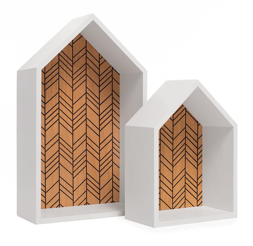 vegghylle sett av to hus kr249 DrlykkeNO 22x37cm 18x15cm